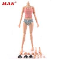 1/6 Scala Corpo Femminile Figura Super-Flessibile Pelle Asiatica Europeo Tan Colore Grande/Medio Corpo Seno Con Le Mani In Più piedi