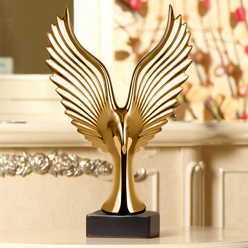 Silver Creative Home Decor Eagle Wing