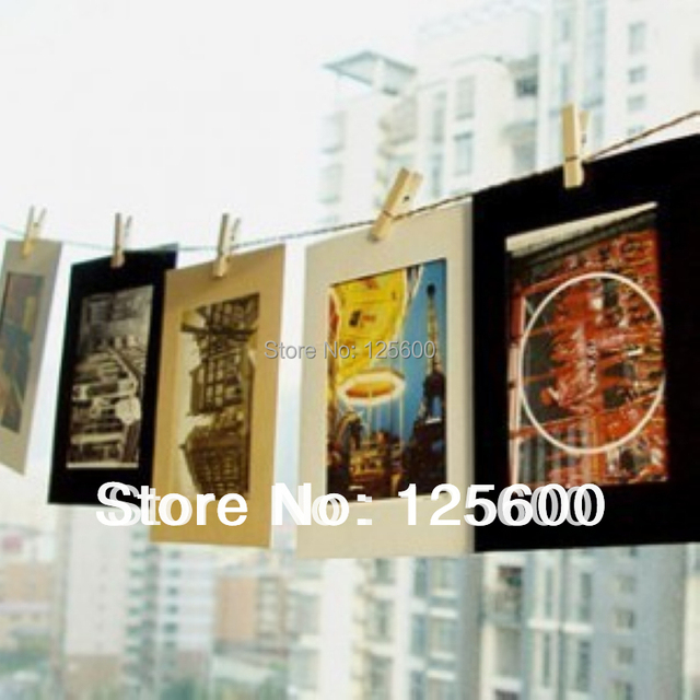Free Shipping DIY 4x6 Inch Hanging Paper Photo Frames Picture Frames ...