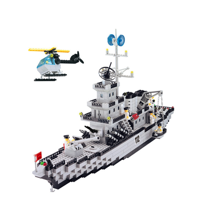 970pcs Children's educational building blocks toy Militaryaircraft carrier Compatible Legoingly city technic DIY figures Bricks-in Blocks from Toys & Hobbies    2