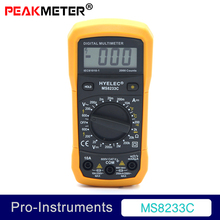 MS8233C Manual Range Mini Palm Size Digital With Backlight Temperature Multimeter Students Teaching School USE 10A
