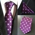 Фабрика мужская 100% Шелковый Галстук и Платок Набор 8 Типа Горошек Карманные Квадратных Галстук Свадьбу Бизнес Платок галстуки