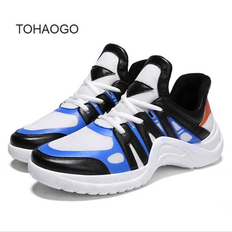Summer Star Breathable Mesh Mens sneakers thick bottom mixed colo casual Male shoes tenis masculino esportivo chaussure