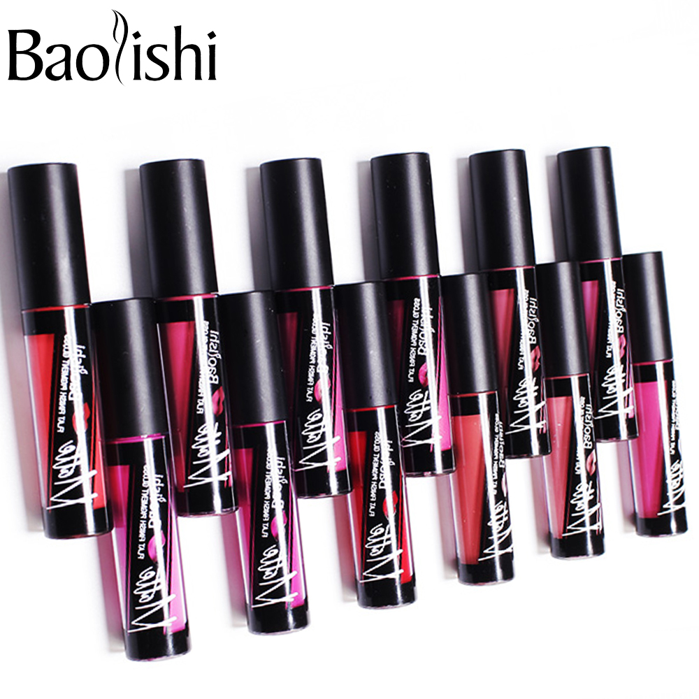 baolishi Matte Lip Gloss Waterproof matte Color quickly dry Long - Makeup - Photo 4