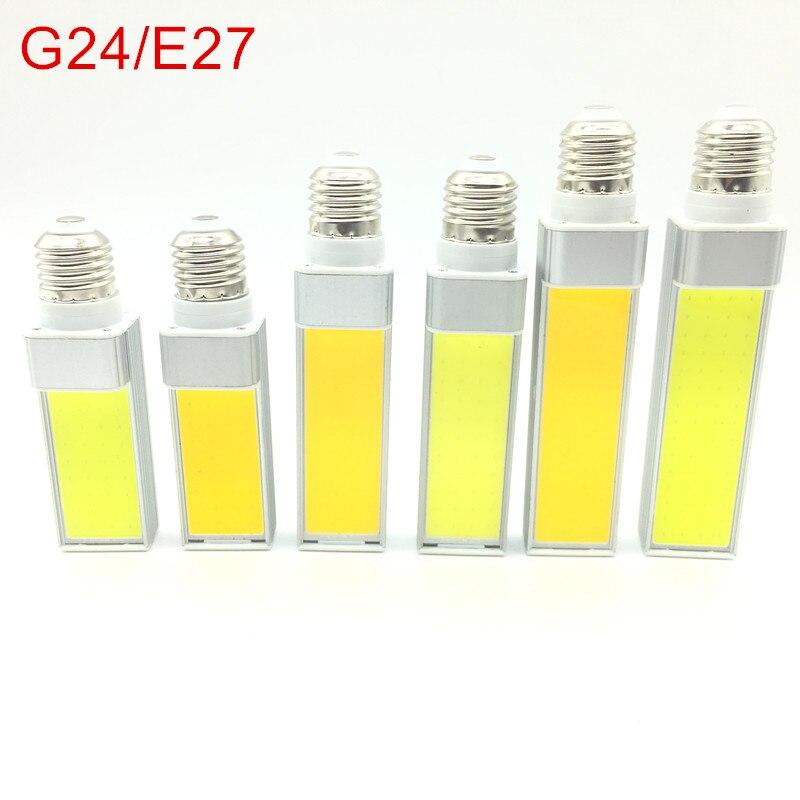 Lâmpadas LED 10 W 12 W 15 W E27 E14 G23 G24 LEVOU Milho Luz Da Lâmpada do bulbo Holofotes COB 180 Graus AC85-265V Luz Plugue Horizontal