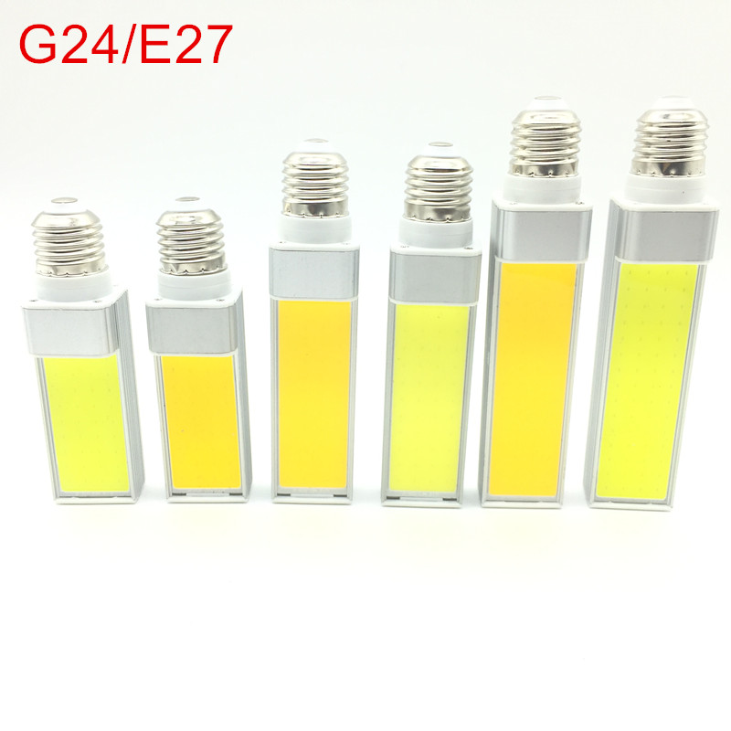LED Bulbs 10W 12W 15W E27 G24 E14 G23 LED Corn Bulb Lamp Light COB Spotlight 180 Degree AC85-265V Horizontal Plug Light цена