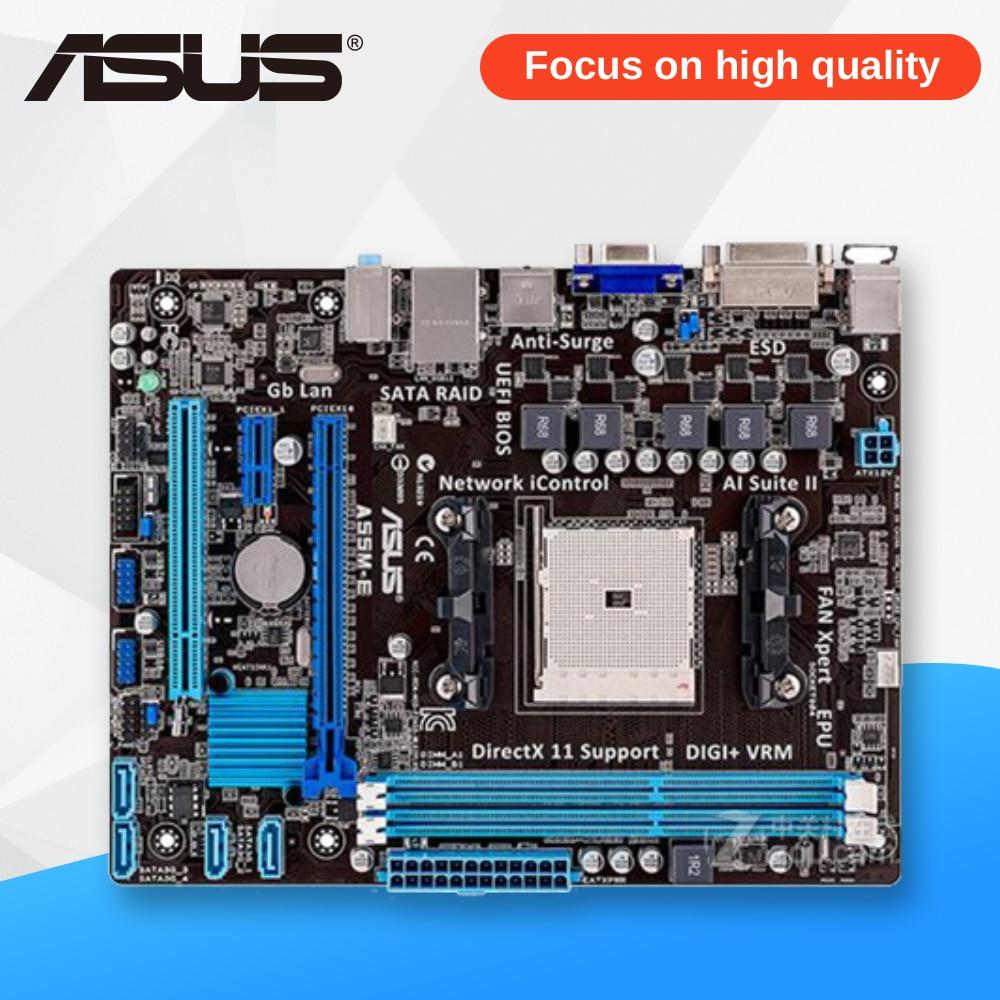 Asus A55M-E Desktop Motherboard A55M-E A55M Socket AMD A55 Socket FM2 DDR3 USB2.0 ATX msi planetesimal a55m s41 a55 fm1 motherboard all solid state
