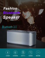 Suni Metal HIFI Boxes Bluetooth speaker portable Subwoofer soundbar music double horn bluetooth Wireless handsfree call