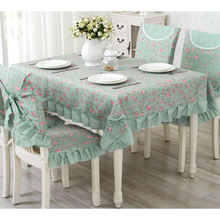 Hot Pastoral Lace Table Cloth, 9Pcs/Set Banquet Tablecloth Table Cover, Cute Dining Table Cloth, nappe rectangulaire tafelkleed(China)