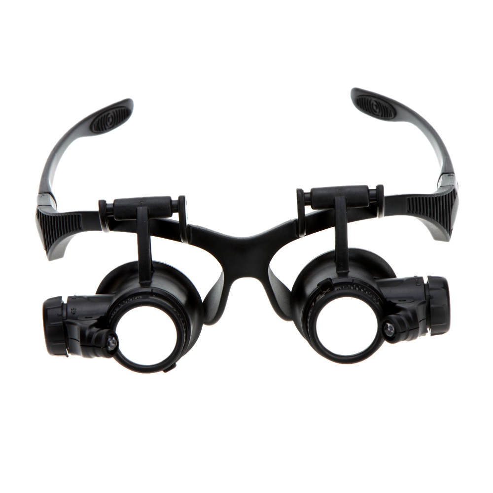X Binocular Magnifier Glasses With Led Light