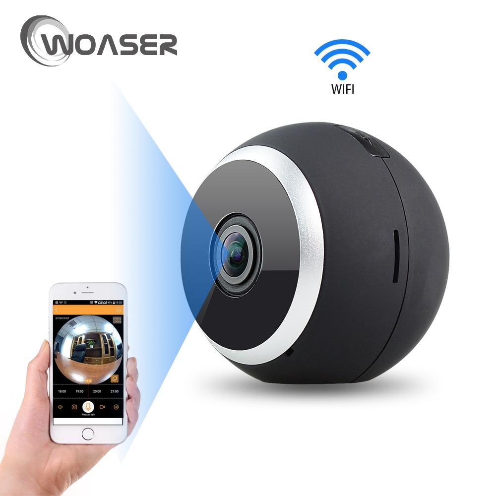 все цены на WOASER HD FishEye IP camera 960P 360 degree Full View Mini CCTV Camera IR-cut 1.3MP Network Home Security WiFi Camera Panoramic онлайн