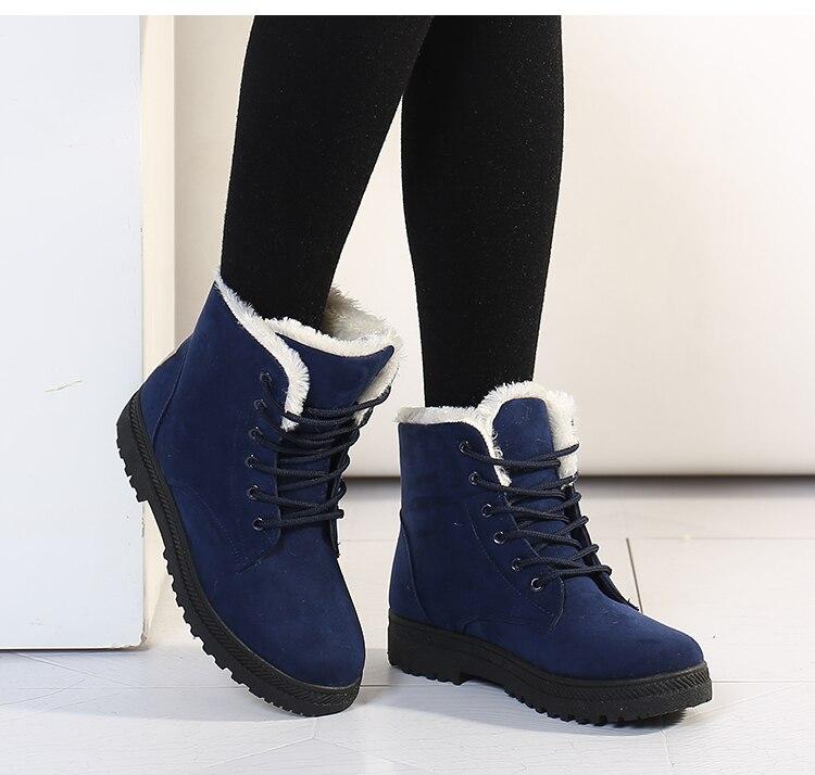 Women's High Heels Plush Winter Boots 7