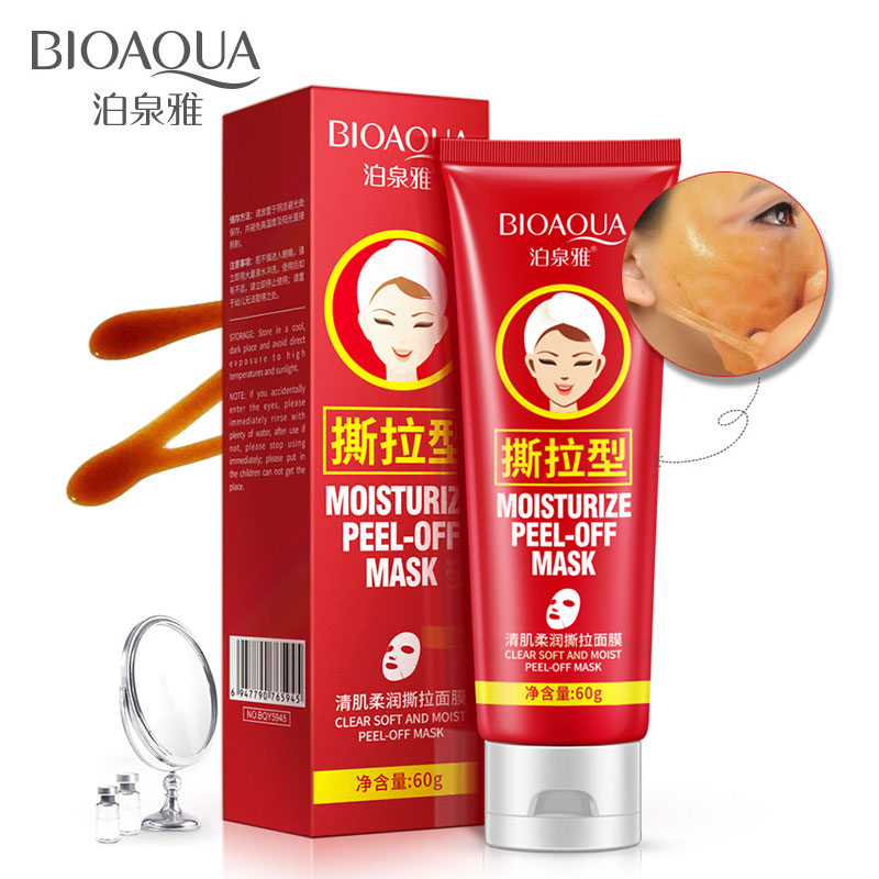 BIOAQUA Blackhead Removal Tearing Mask Acne Treatment Black Head Deep Cleaning Face Care Moisturizing Oil Control Shrink Pores in Treatments Masks from Beauty Health