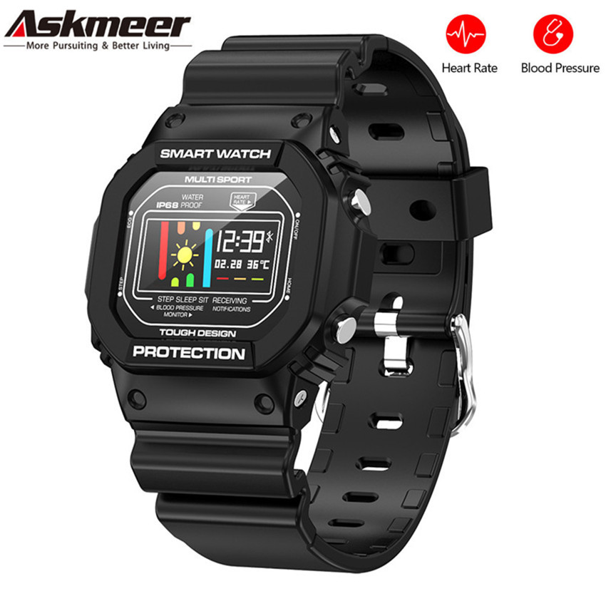 ASKMEER <font><b>X12</b></font> Smart Watch Women Men Call Message Reminder IP68 Waterproof Fitness Tracker Heart Rate Monitor Digital <font><b>Smartwatch</b></font> image