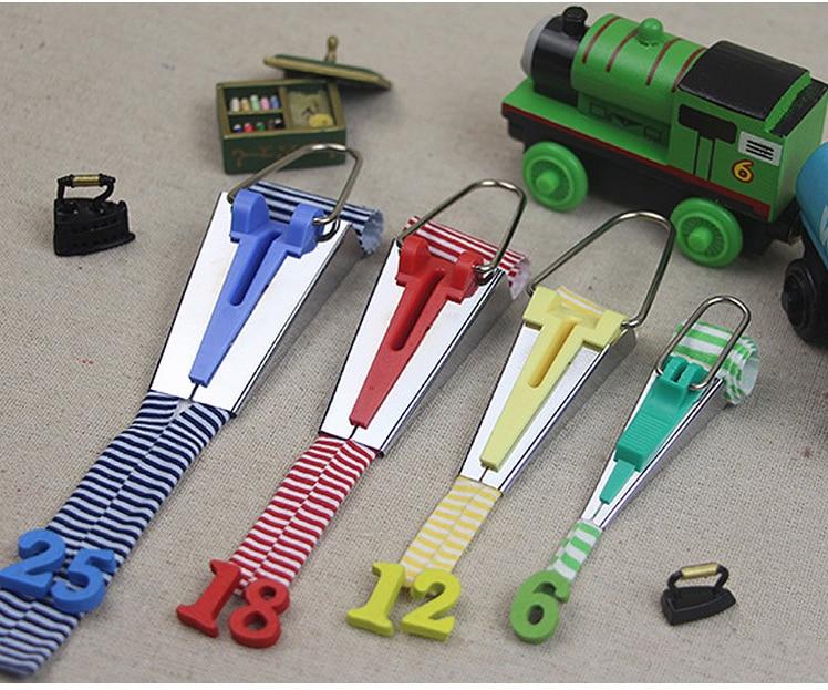 4Pcs/Set Sewing Accessories Bias Tape Makers - 4 Size 6mm 12mm 18mm 25mm Bias Binding Tape Maker