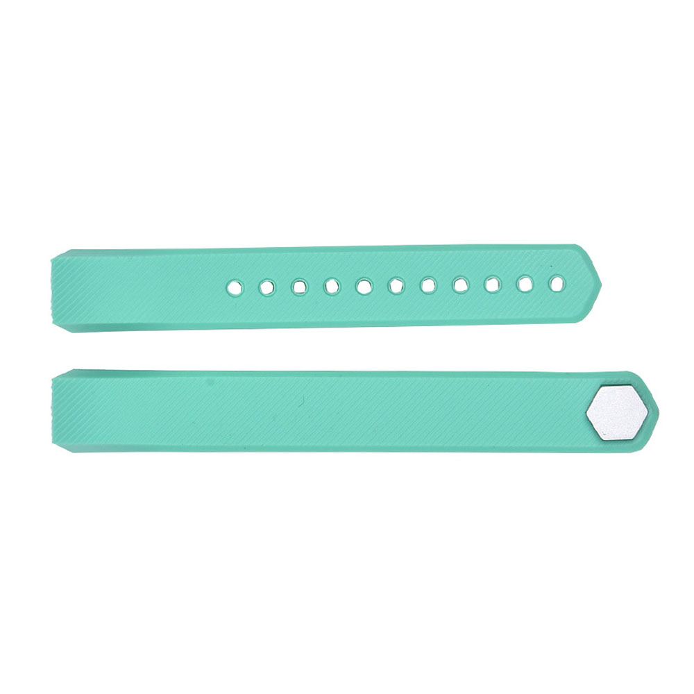 YCYS-Luxury Replacement Silicone Watch Band Strap For Fitbit Alta Watch Wristband Colour:Lake Green