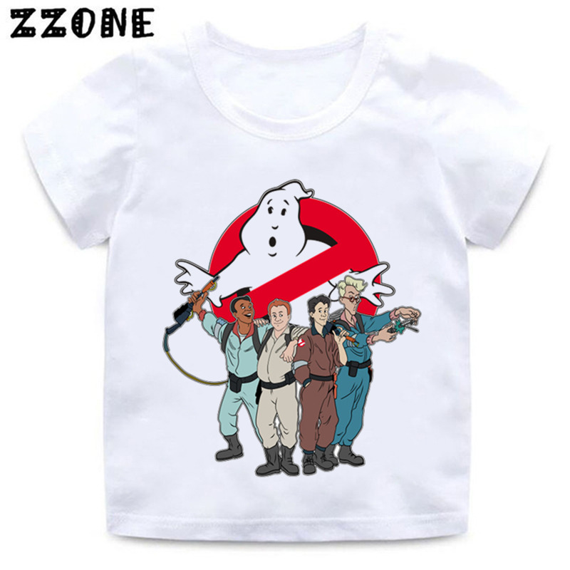 Kids Stay Puft Funny Clothes Boys And Girls Old School Logo Ghostbuster Print T Shirt Baby Summer Casual T-shirt,-5224