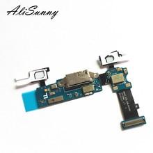 Alisunny 5ピース充電フレックスケーブルサムスンギャラクシーs5 g900f充電器usbポートdockコネクタ修理部品