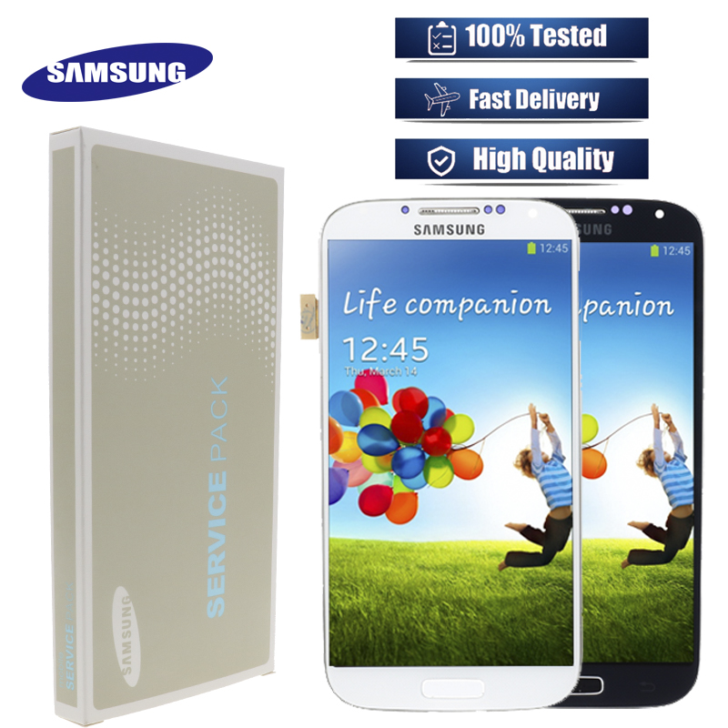 Original Super AMOLED S4 LCD for Samsung Galaxy S4 GT i9505 i9500 i9505 i9506 i337 Display