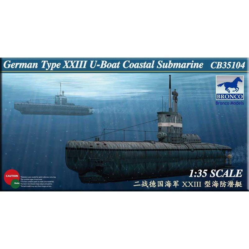 BRONCO CB35104 1/35 German Type XXIII U-Boat Coastal Submarine - Scale Model Kit