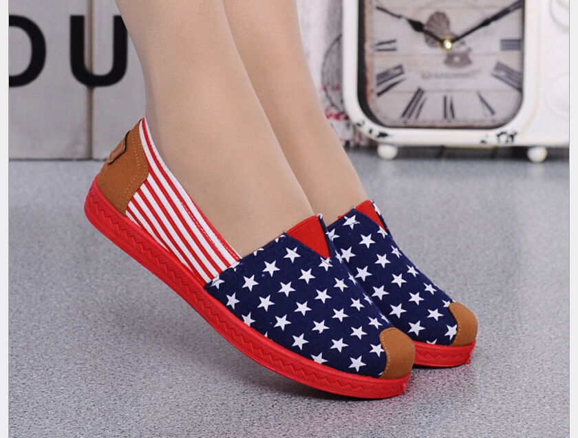 Fashion New  Cotton Canvas Women Flat Shoes Women's Flats Womens Casual Lazy Shoes Spring Summer Loafers Plus size 35-40 new 2017 spring summer women shoes pointed toe high quality brand fashion womens flats ladies plus size 41 sweet flock t179