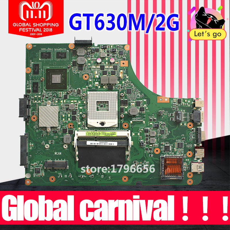 GT630M-2GB REV 3.1 /3.0 K53SM Motherboard For ASUS K53SM K53SV A53S X53S K53SJ laptop Motherboard K53SV Mainboard 100% OK