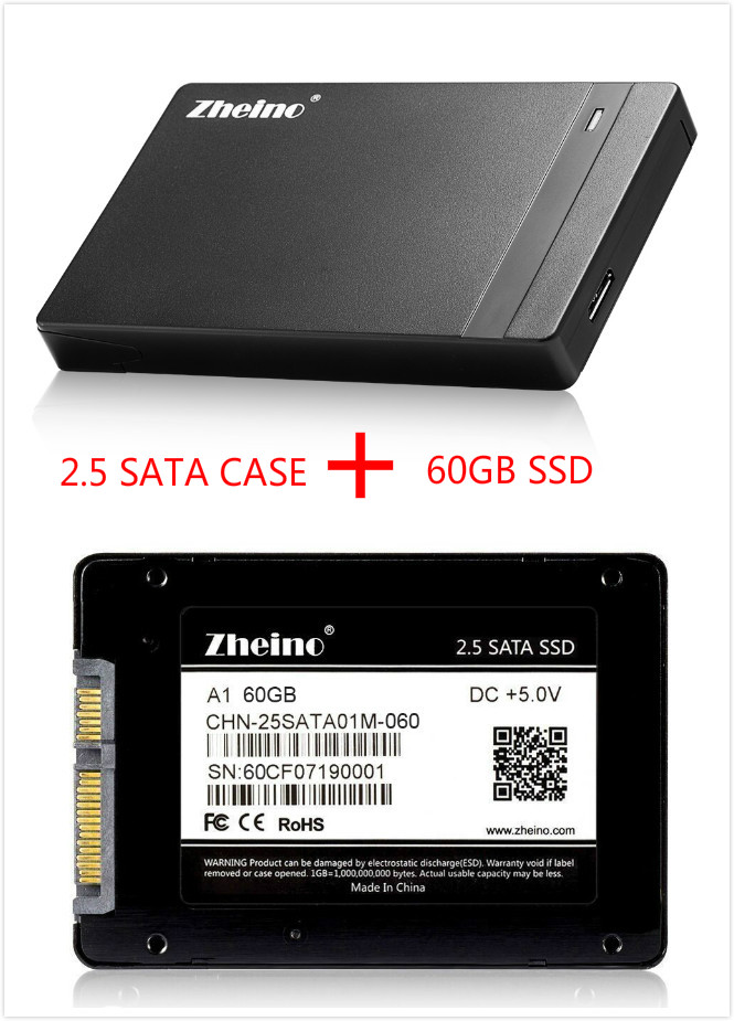 Zheino P1 USB3.0 External SSD 60GB Super Speed with 2.5 SATA Solid State Drive Replacement Of External Hard Drive Disk zheino q1 msata sata iii 6gb s ssd 60gb ssd solid state drive mlc flash storage devices disk for desktoo laptop