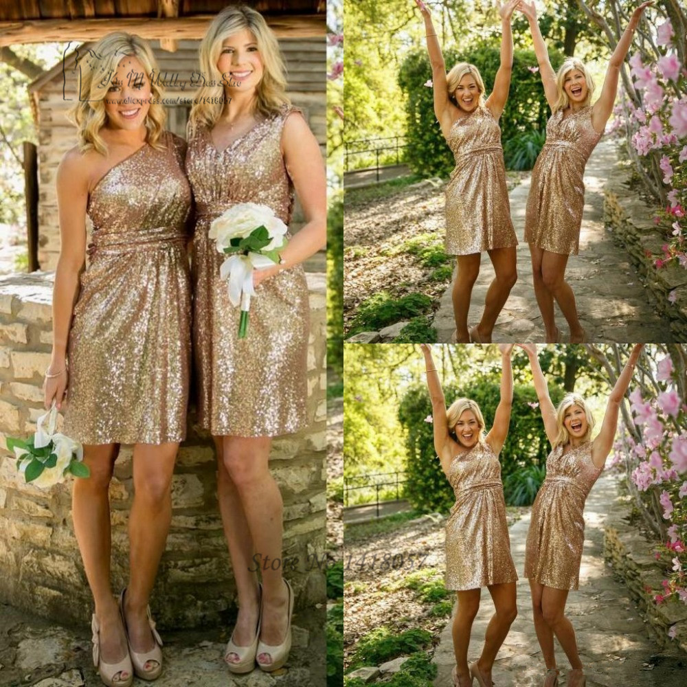 Cheap navy blue gold sequin bridesmaid dress short bruidsmeisjes cheap navy blue gold sequin bridesmaid dress short bruidsmeisjes jurk sparky one shoulder sexy wedding guest dresses 2017 china in bridesmaid dresses from ombrellifo Image collections