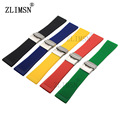 ZLIMSN 26mm Silicone Rubber Watchbands Strap Men Sport Waterproof Diver Watch Band Steel Buckle Relojes Hombre 2017