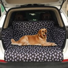 Pet Seat Cover Dog Car Back Seat Carrier Waterproof Car Dog Pet Mat Hammock Cushion Protector Pet Carriers Oxford Paw Pattern(China)