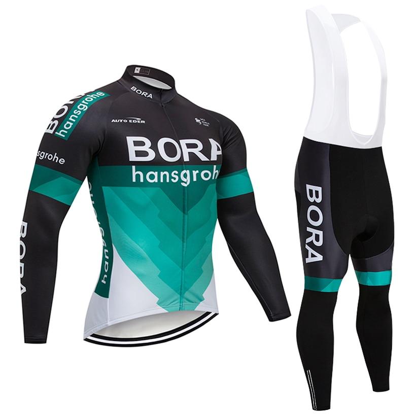 Зима 2018 команда Бора куртка 9D pad велосипед Шорты ropa ciclismo мужчины Термальность ватки Джерси Велоспорт Майо Culotte комплект одежды