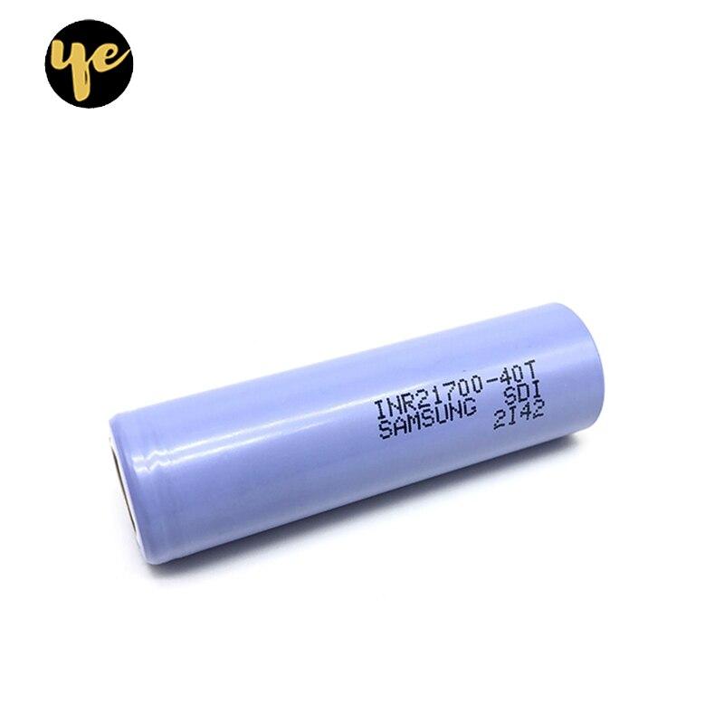 6 pièces inr21700 40 T 4000 mAh 3.7 V 21700 batterie d'alimentation cellulaire 35A tournevis gadgets cigarette électronique charge batterie au lithium