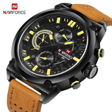 NAVIFORCE Sport Men Military Quartz Watch Top Luxury Brand Mens Watches Fashion Casual Waterproof Wristwatch relogio masculino naviforce men watches top brand luxury sport quartz watch leather strap clock men s waterproof wristwatch relogio masculino 9099