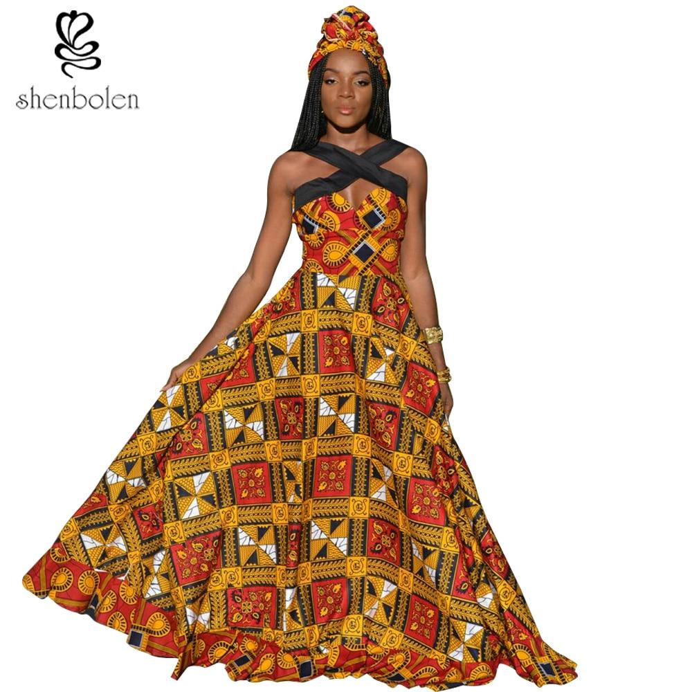 African Dresses For Women Wax Printed Batik Sexy Dress