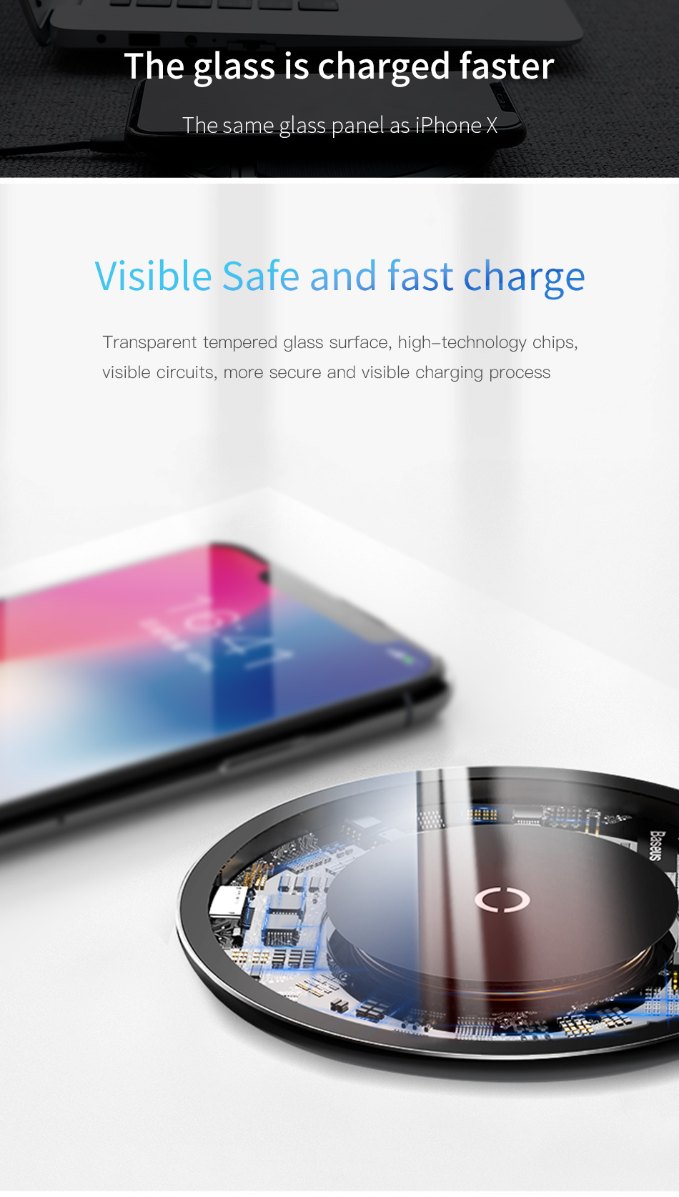 Baseus Simple Wireless Charger Transparente