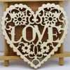 (pack of 10) Modern DIY Laser Cut Decorative Heart Unfinished Wooden Shapes Craft Embellishments Wood Craft Home Decor