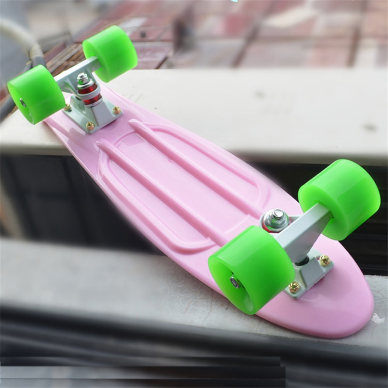 Planche à roulettes en plastique menthe Mini Cruiser planche à roulettes 22