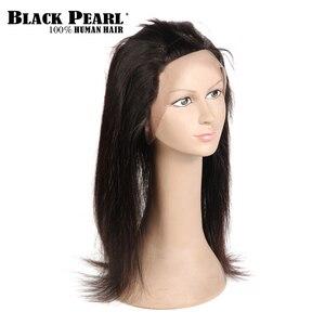 Image 4 - שחור פנינה מראש בצבע 360 חזיתי תחרה עם חבילות 3/4 יח\חבילה ישר שיער טבעי חבילות עם סגר ללא  רמי שיער Weave