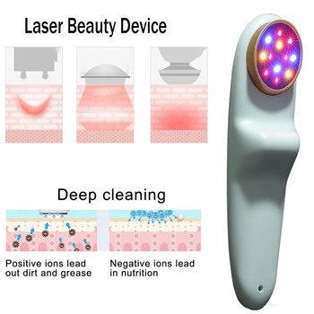 ATANG 2019 New Facial Beauty Device Blue Light & Yellow Light Cure Acne Improve Dullness Cold Laser Therapy Arthritis Neck Pain