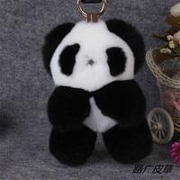The real Rex rabbit fur handmade panda pendant, mobile phones, bags, key pendant