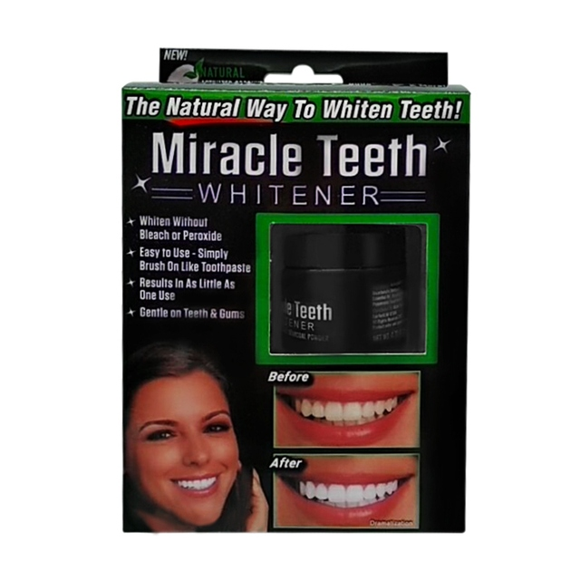 Black Activated Carbon Teeth Cleaning Powder Miracle Teeth Natural Activity Clean Tooth Powder White Bamboo Charcoal Dentifric