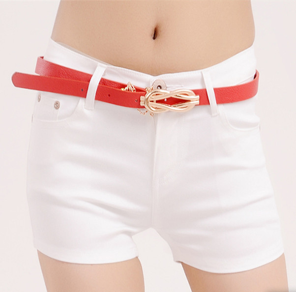 Free Shipping Summer New Candy Color Denim Shorts Slim Fit Ladyies Elastic Waist Sexy Female Short Jeans For Women