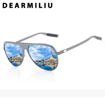 DEARMILIU Retro Men's Polarized Sunglasses Men Driving Pilot Aluminum magnesium Sun Glasses luxury Gafas De Sol shades Women