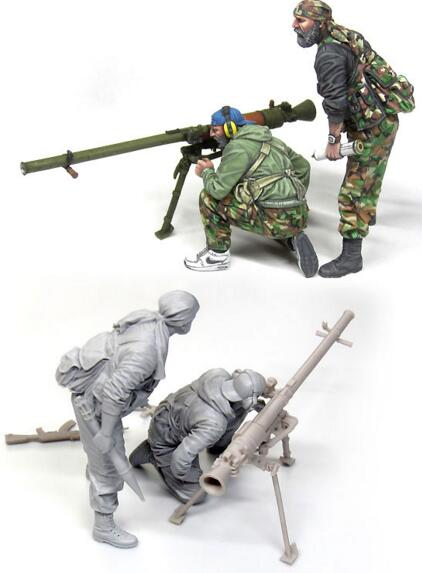 1/35 Resin Kits 2pcs Soldier With Cannon1/35 Resin Kits 2pcs Soldier With Cannon
