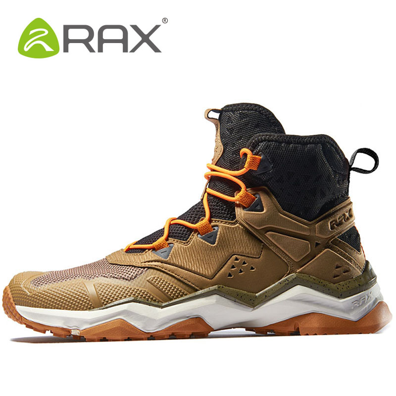 RAX Men Hiking Shoes Tactical Boots Outdoor Athletic Walking Man Brand Hunting Trekking Mountaineering Breathable Mens Sneakers mulinsen winter2017 ankle boots hiking shoes for men hunting trekking men s sneakers breathable outdoor athletic sports brand