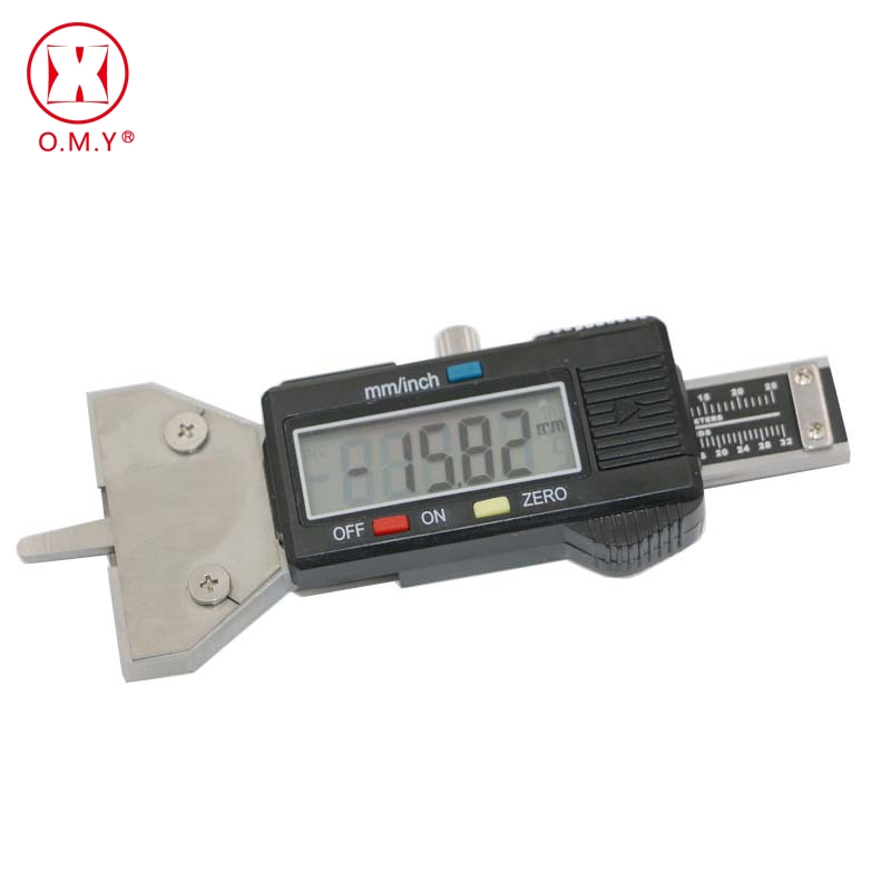 OMY Digital Tyre Gauge Tread Depth Deep Gauge for Brake Shoe Pad Wear Car Van Motorbike Truck Depth Gauge Check Tester portable pen style car tyre pressure tester gauge silver