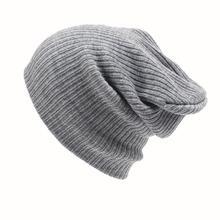 2016 New Fashion Women Men Knitting Beanie Hip-Hop Winter Warm Caps Unisex 6Colors Hats For Women Feminino Bone