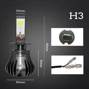 Image 3 - Ampoule de voiture anti brouillard, lumière blanche, bleue ou jaune, pour le jour, H8 H9 H11 H3 880 881 H27 LED, 12V 55W