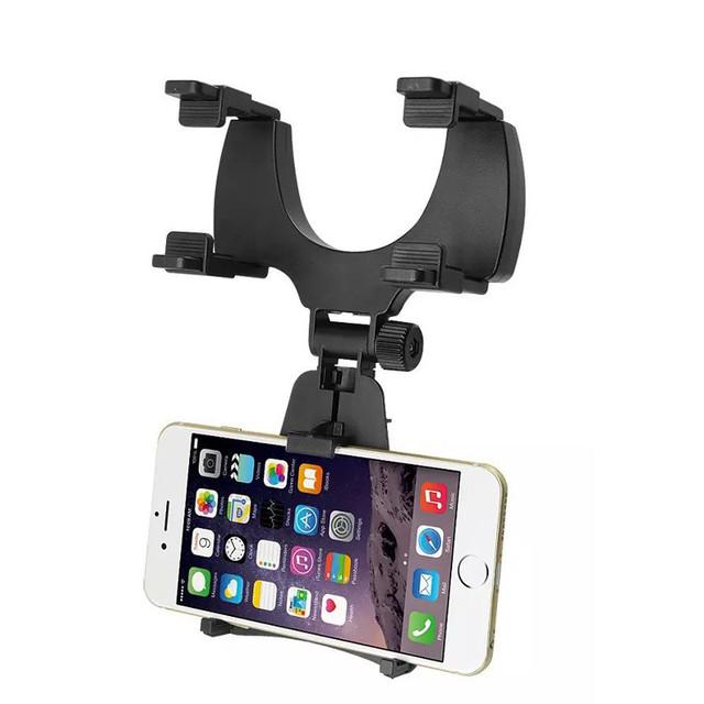 Nuevo espejo retrovisor del coche universal soporte para teléfono para iphone 5s 6 6 s plus para Galaxy s4 s5 s6 s7 GPS smartphone soporte titular