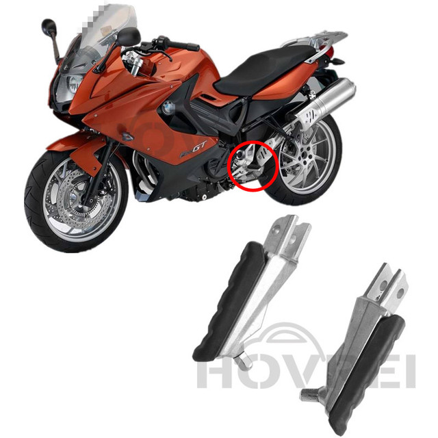 2pcs Aluminum Rubber Motorcycle Fittings Front Footrests Foot Pegs